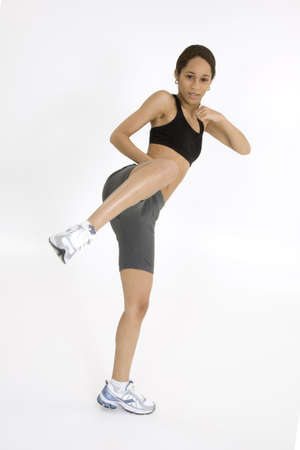 Model Release 379  Young African American woman working out Stock Photo - 780657