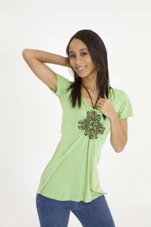 early 20s: Modelo Release 379 afroamericanas en la primera mujer 20  's haciendo glamour de modelado