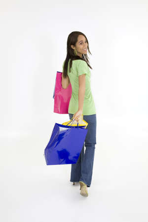 Model Release 379  Young African American woman shopping Stock Photo - 780763
