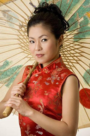 Beautiful Chinese woman in traditional Chinese clothing Banque d'images