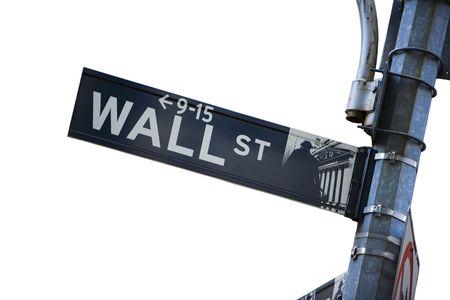 Wall-Street-Zeichen Standard-Bild - 4922682