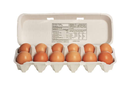 chicken cage: Cage free brown chicken eggs Stock Photo
