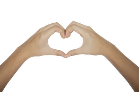 Female hands forming a heart Stock Photo