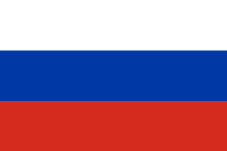 The official flag of the Russian Federation
