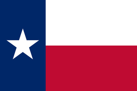 The official flag of the state of texas