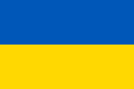 The official flag of the Ukraine