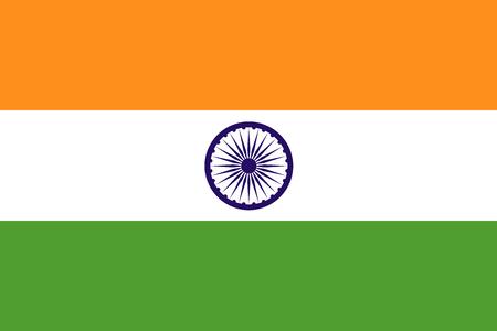 De officiële vlag van de Republiek India is zowel in kleur en verhoudingen. Ook bekend als de Tiranga Stockfoto - 37342643