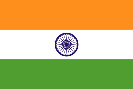 The official flag of the Republic of India is both color and proportions. Also known as the Tiranga
