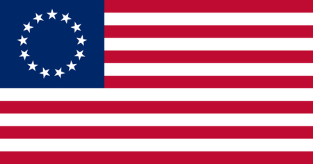 The Besty Ross Flag of the United States of America made to goverment specifications in both color and proportions
