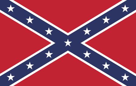 Le drapeau de bataille de l'Armée du Tennessee. Aussi connu sous le drapeau confédéré Rebel utilisé pendant la guerre de Sécession. Banque d'images - 37342648