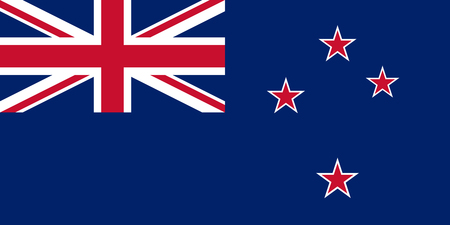 The official flag of the New Zealand in both color and proportions