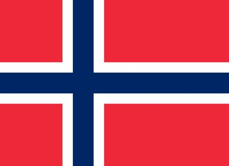 The official flag of the Kingdom of Norway in both color and proportions Çizim