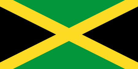 The official flag of Jamaica in both color and proportions