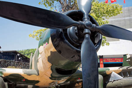 An American A-1 Skyraider on display in the War Remnants Museum in Ho Chi Minh City Vietnam Asia