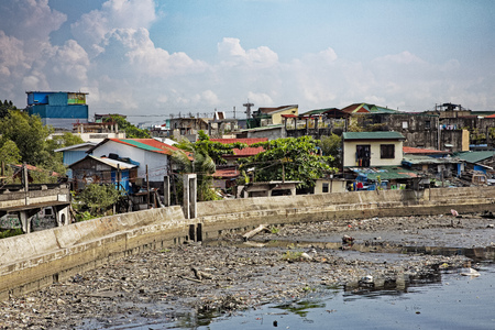 La pobreza en las calles de Manila, la capital de Filipinas. Foto de archivo