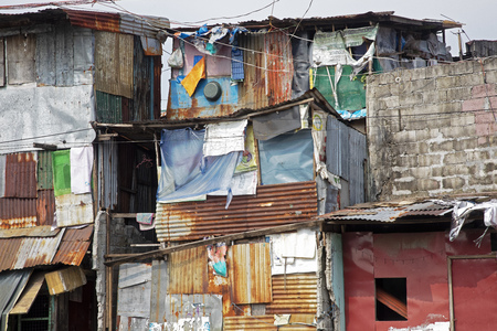 Poverty in the streets of Manila the capital of the Philippines