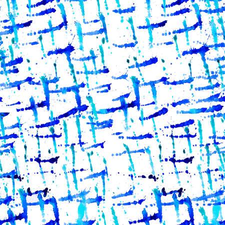 수채화 원활한 패턴 페인트 dab 흰색 배경에 고립입니다. 추상 무료 디자인 클립 아트 배경. 파란색 페인트 밝아진 웹 및 인쇄에 대 한 흰 종이에 색 혼