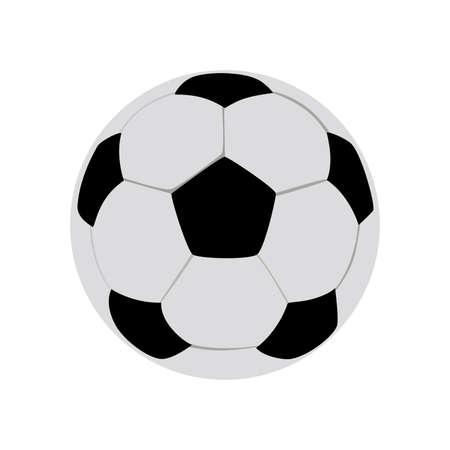 벡터 축구 공 흰색 배경에 고립입니다. 볼륨 축구 공입니다. 흑인과 백인 육각형 라운드 볼 결합. 스포츠 장비. 유럽 및 세계 대회 개체입니다. 편집 가 일러스트