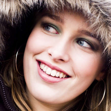 young girl with a jacket Stock Photo - 707535