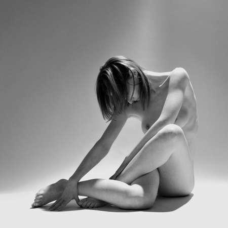 a woman model portrait in the studio
