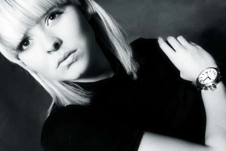 a model portrait in the studio Stock fotó
