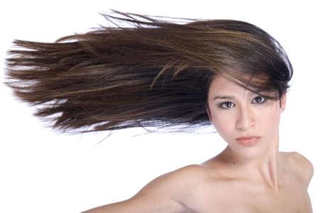 portrait of a beauty woman model taken in the studio Stock Photo