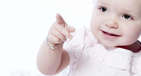 Petits enfants des portraits pris en studio sur fond blanc  Banque d'images - 1105409