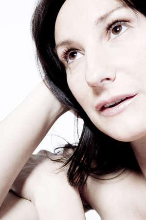desaturated: Beauty pregnant woman portraits taken in the photo shtudio