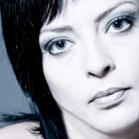 30 34 years: Beauty adult woman portraits taken in the studio Stock Photo
