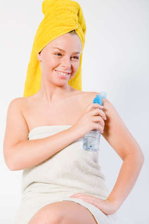 Studio portrait of a spa girl looking cute Stock Photo - 2329344