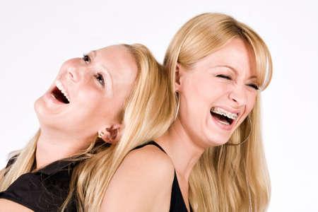 laughing out loud: Dos hermanas sesi�n inmediatamente despu�s de re�r a carcajadas