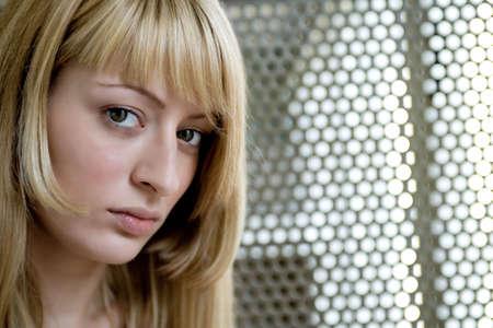 lookalike: Portrait of a Paris Hilton look-a-like making eye contact