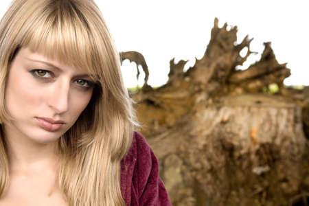 lookalike: Paris Hilton look-a-like photographed outside Stock Photo