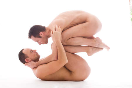 naked male body: Artistic nude forms with 2 powerfull men