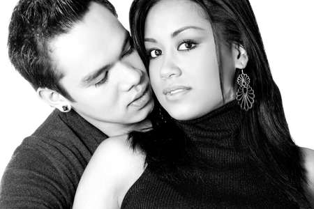 Portrait of Indonesian boy- and girlfriend in love Stock Photo - 4584543