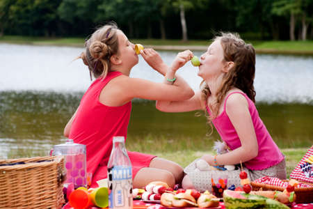 Teenagers having a great time in the park