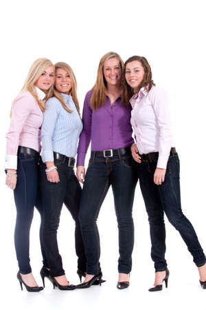 Group of young girlfriends having a happy time together Stock Photo - 6546944