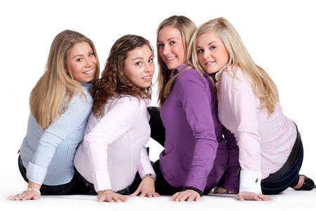 Group of young girlfriends having a happy time together Stock Photo - 6546981