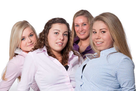 Group of young girlfriends having a happy time together Stock Photo - 6547026