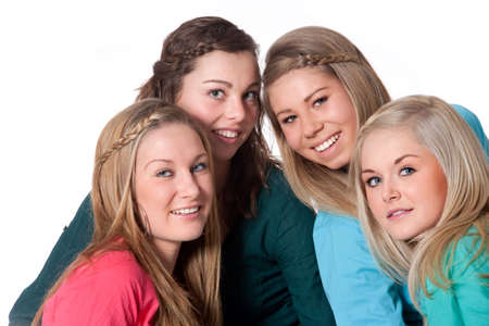 Group of young girlfriends having a happy time together Stock Photo - 6547008