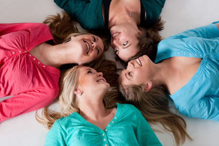 Group of young girlfriends having a happy time together Stock Photo - 6547022