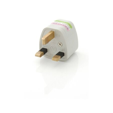 closeups: Isolated image of a US to UK Socket adapter. Stock Photo