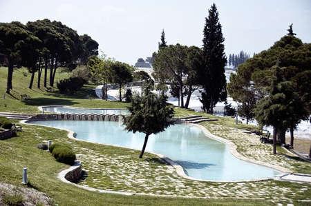phenomena: A photo of a man-made travertine pool at Pamukkale, Turkey