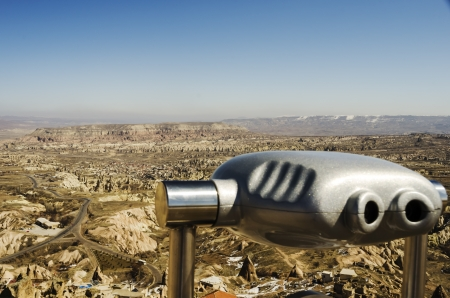 troglodyte: A view over Cappadocia from Uchisar castle