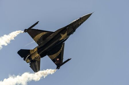 afterburner: A close-up of the underside of jet Editorial