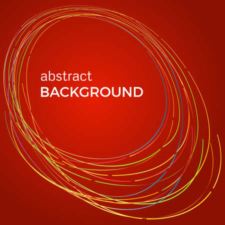 flash light: Beautiful light circles on a red background. Abstract flash light circles. Vector technology background.