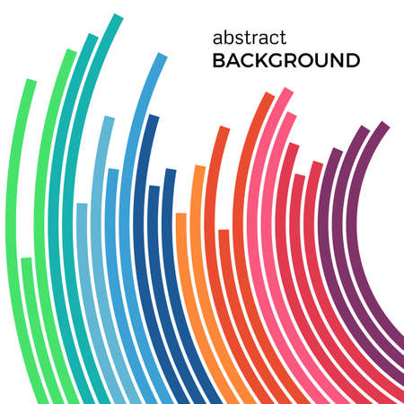 Abstract vector illustration depicting colored circles on a white background. Infographic background with place for your text.
