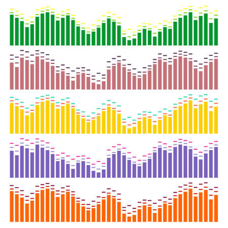 Sound waves vector set. Audio equalizer. Sound & audio waves isolated on white background. Фото со стока - 69673397