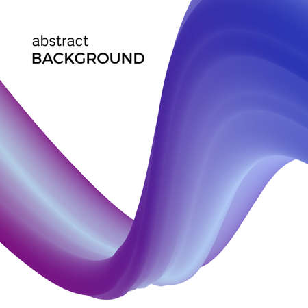 Color abstract composition of the blue watercolor waves. Vector abstract colorful pattern with bent dynamic form.