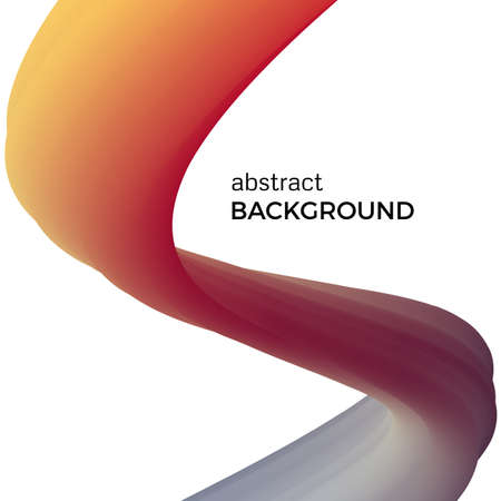 Color abstract composition of the watercolor waves. Vector abstract colorful background with bent dynamic form.